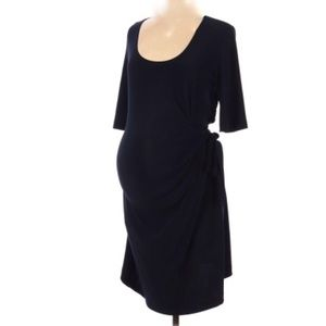 JW Black Jersey Maternity Waist Tie Dress-M